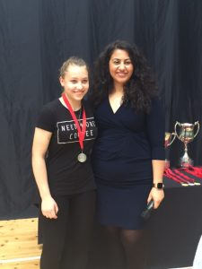 Emilija won silver in the U16 girls competition