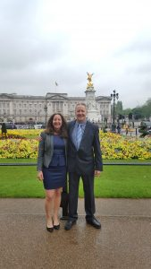 Linda and Pierre before the Queen´s Royal Garden Party