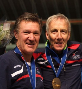 Tony and Paul with their medals for veterans