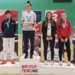 Alice Campbell (right) Bronze National Junior 18