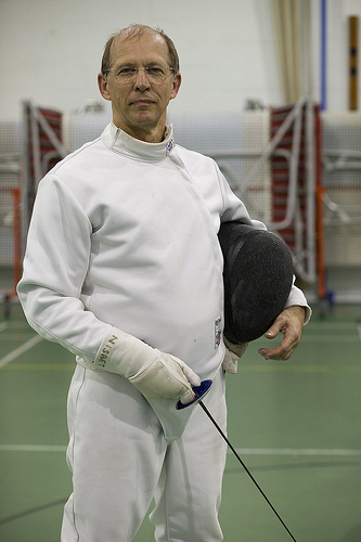 Picture of fencing coach, Andrew Nisbet