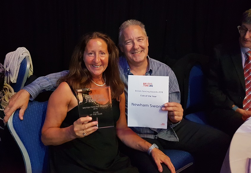 Linda and Pierre Club of the year 2018 - Newham Swords!