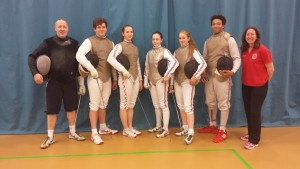 Fencing in Cape Town in July 15 will be Ciaran Archer, Katrina Feklistova, Alice Campbell, Rachel Shaw and Kamal Minott, with Pierre and Linda