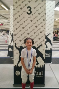 Khalam with his bronze medal