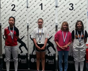 Alice Campbell took 1st in the International LPJS U15