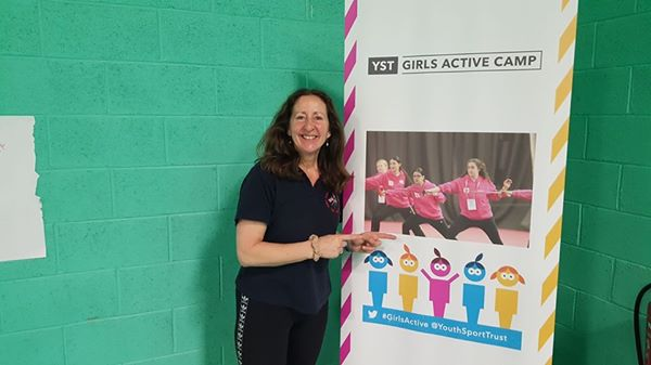 Linda at Girls Active Camp Loughborough 2017