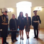 Linda with Mum, Sister and the Lord Lieutenant