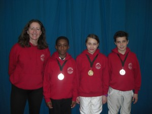 Two Bronze medals and a gold at the Leon Paul Junior series 2014 competition