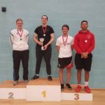 Peter Barwell (gold), Matt Billing (silver) with Dan Robinson and Kamal Minott (bronzes)