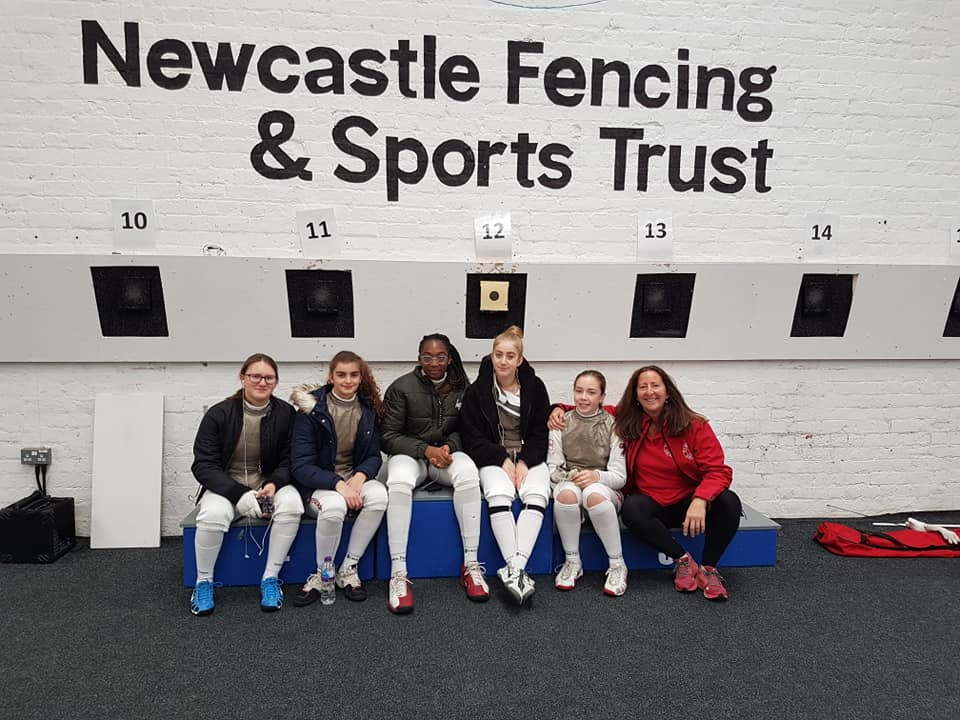 Newham fencers at the Newcastle U20 2018
