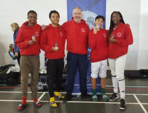 U16 Team  Abubakr Bah, Keir Adeleke, Jamiel Contractor,Teagan Williams-Stewart