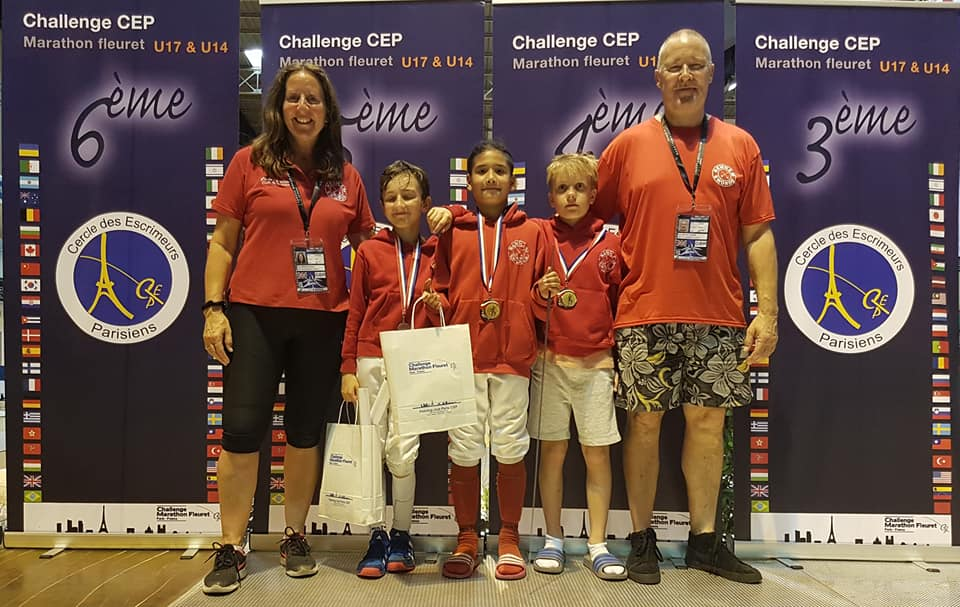 Belbouab (U10B), Contractor (U12B) and Vassiljev (U10B) with their medals