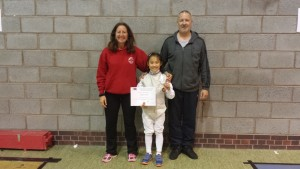 Sophie Tsang 2015 U10 BYC Bronze  at  Telford with Linda and Pierre May 15