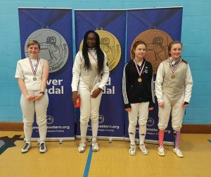 Gold for Teagan at the Eastern Region Senior Women´s Foil
