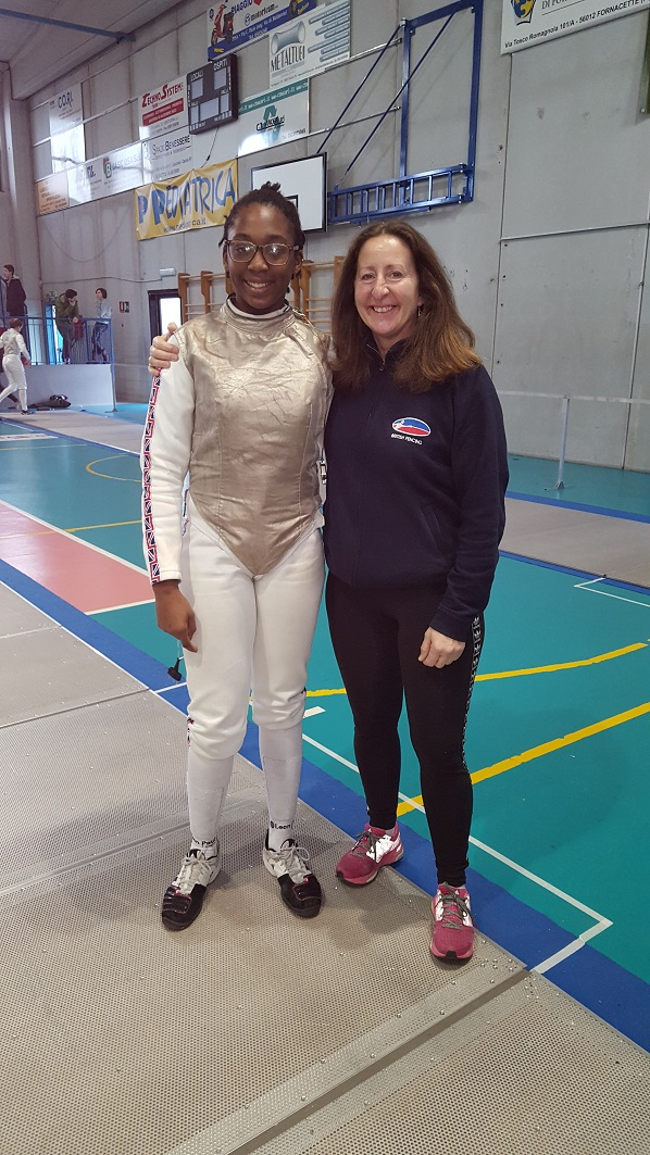 Teagan at European U15 Foil Competition in Poland