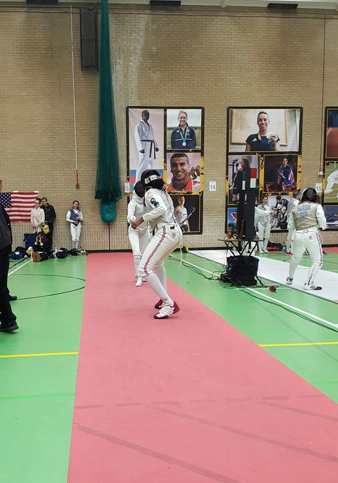 Teagan Stewart-Williams in action at the Invicta Open