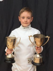 Tomi won the U10 and U12 boys competitions at the Summer Academy Cup event.