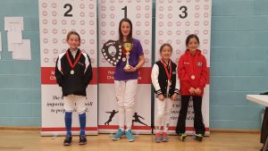 Newham Junior Challenge Series - Event 4 winners in the U10 Girls category