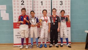 Newham Junior Challenge Series - Event 4 winners in the U12 Boys category and Series winner