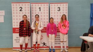 Newham Junior Challenge Series - Event 4 winners in the U12 Girls category