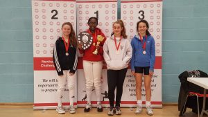 Newham Junior Challenge Series - Event 4 winners in the U14 Girls category