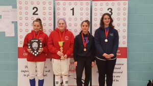 Newham Junior Challenge Series - Event 4 winners in the U16 Girls category