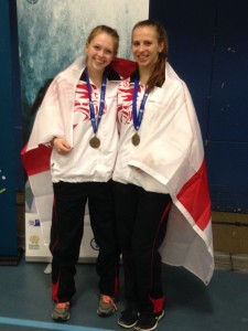 atrina Feklistova with Kate Beardmore of Fighting Fit. jnr Commonweatlh Bronze